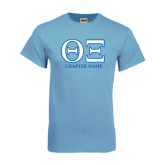 Light Blue T Shirt-Greek Letters - Personalized Chapter Name