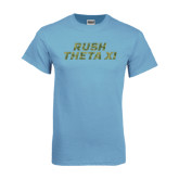 Light Blue T Shirt-Rush Camo Halftone