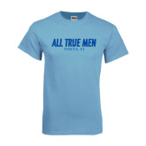 Light Blue T Shirt-Slogan