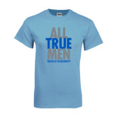 Light Blue T Shirt-Slogan Stacked