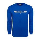 Royal Long Sleeve T Shirt-Theta Xi - Top Gun