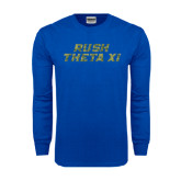 Royal Long Sleeve T Shirt-Rush Camo Halftone