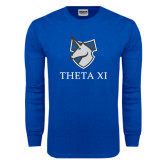 Royal Long Sleeve T Shirt-Unicorn Word Mark
