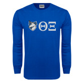 Royal Long Sleeve T Shirt-Unicorn with Greek Letters