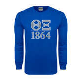 Royal Long Sleeve T Shirt-Greek Letters 1864 Stacked