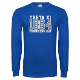 Royal Long Sleeve T Shirt-Founders Day - Jersey Style