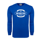 Royal Long Sleeve T Shirt-Bid Day - Personalized Chapter/Year