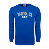 Royal Long Sleeve T Shirt-Arched Dad