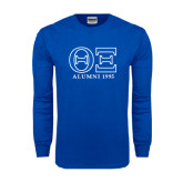 Royal Long Sleeve T Shirt-Greek Letters - Personalized Alumni Year