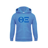 Youth Light Blue Fleece Hoodie-Greek Letters - One Color