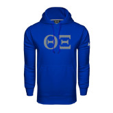 Under Armour Royal Performance Sweats Team Hoodie-Greek Letters - One Color