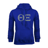 Royal Fleece Hoodie-Greek Letters - One Color