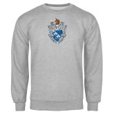 Grey Fleece Crew-Crest