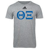 Adidas Sport Grey Logo T Shirt-Greek Letters - One Color
