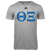 Adidas Climalite Sport Grey Ultimate Performance Tee-Greek Letters - One Color