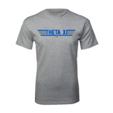 Grey T Shirt-Theta Xi - Top Gun