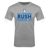 Grey T Shirt-Rush - Slogan