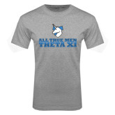 Grey T Shirt-Theta Xi - Slogan Gradient Halftone
