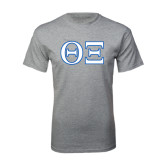 Grey T Shirt-Greek Letters - One Color