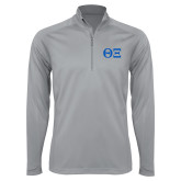 Syntrel Platinum Interlock 1/4 Zip-Greek Letters - One Color