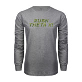 Grey Long Sleeve T Shirt-Rush Camo Halftone