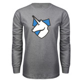 Grey Long Sleeve T Shirt-Unicorn