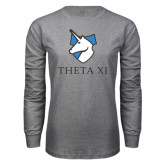 Grey Long Sleeve T Shirt-Unicorn Word Mark