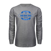 Grey Long Sleeve T Shirt-Bid Day - Personalized Chapter/Year