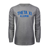 Grey Long Sleeve T Shirt-Arched Alumni