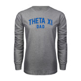 Grey Long Sleeve T Shirt-Arched Dad