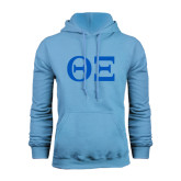 Light Blue Fleece Hoodie-Greek Letters - One Color