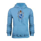 Light Blue Fleece Hoodie-Crest
