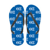 Full Color Flip Flops-Greek Letters - One Color