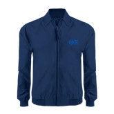 Navy Players Jacket-Greek Letters - One Color