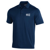 Under Armour Navy Performance Polo-Greek Letters - One Color