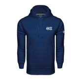 Under Armour Navy Performance Sweats Team Hoodie-Greek Letters - One Color