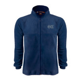Fleece Full Zip Navy Jacket-Greek Letters - One Color
