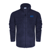 Columbia Full Zip Navy Fleece Jacket-Greek Letters - One Color