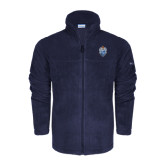Columbia Full Zip Navy Fleece Jacket-Crest