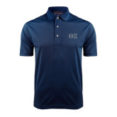 Navy Dry Mesh Polo-Greek Letters - One Color