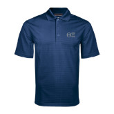 Navy Mini Stripe Polo-Greek Letters - One Color