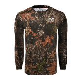 Realtree Camo Long Sleeve T Shirt w/Pocket-Greek Letters - One Color