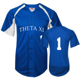 Replica Royal Adult Baseball Jersey-Theta Xi