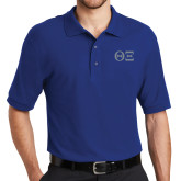 Royal Easycare Pique Polo-Greek Letters - One Color