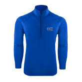 Sport Wick Stretch Royal 1/2 Zip Pullover-Greek Letters - One Color
