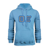 Light Blue Fleece Hoodie-Greek Letters Tackle Twill