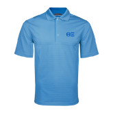 Light Blue Mini Stripe Polo-Greek Letters - One Color