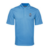 Light Blue Mini Stripe Polo-Crest