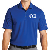 Nike Golf Dri Fit Royal Micro Pique Polo-Greek Letters - One Color