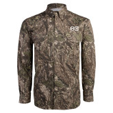 Camo Long Sleeve Performance Fishing Shirt-Greek Letters - One Color Tone